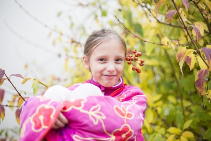 Une belle séance d'automne avec Lila