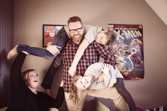 Une famille de super-héros