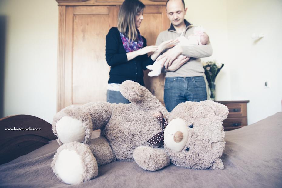 Photo en famille avec bébé